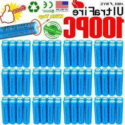 100X UltraFire 18650 3.7v Rechargeable Li-ion Battery For To