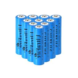 10pcs 14500 Battery 3.7V Ultra 1800mAH Fire Li-ion Rechargea