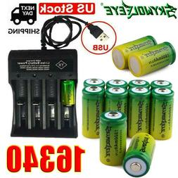 10X Rechargeable CR123A Batteries 3.7V Lithium for Netgear A