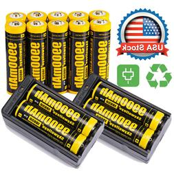14X Powerful 18650 Battery 3.7v Li-ion Rechargeable Battery