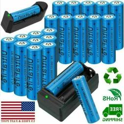 UltraFire 18650 Battery 3.7V Li-ion Rechargeable Batteries &