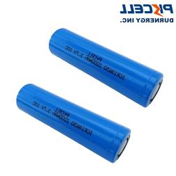 2 18650 Li-ion Rechargeable Batteries 2200mAh 3.7V Lithium H