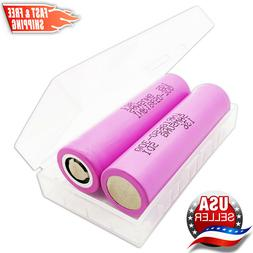 2 Samsung INR18650-30Q 3000mAh 15A High Drain Rechargeable B