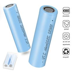 2 Pack 3500mAh 18650 INR Li-ion Rechargeable Battery Flat To