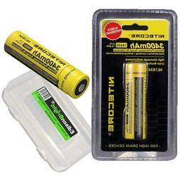 2 X Nitecore 3400mAh 18650 Protected Rechargeable Batteries