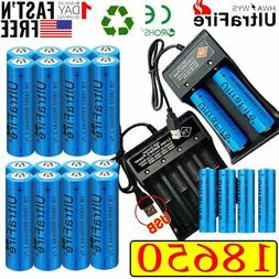 20X UltraFire 18650 Batteries 3.7V Li-ion Rechargeable Batte