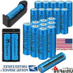 20X UltraFire 18650 Battery 3.7V Quality Li-ion Rechargeable