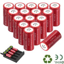 2800mAh Batteries CR123A 16340 Rechargeable Li-ion Battery S