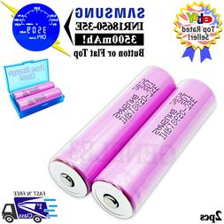 2pc Samsung 3500mAh INR 18650 35E 3.7V Rechargeable Battery