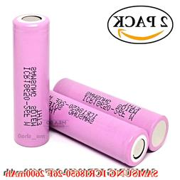 2x Samsung ICR18650 26F 2600mAh 5.2A Rechargeable Flat Top 3