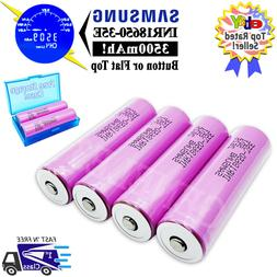4pc Samsung 3500mAh INR18650-35E 3.7V Rechargeable Battery 1