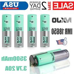 4Pc IMR 18650 3500mah 20A Rechargeable Batteries Li-Ion Flat