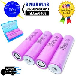 4pcs SAMSUNG INR18650-30Q - 20A High Drain Li-Ion Battery Fu