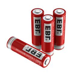 4X EBL 14500 800mah 3.7V Protected Rechargeable Li-ion Elect