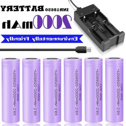 2000mAh 3.7V INR18650 Battery Rechargeable Li-ion High Drain