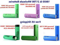 Genuine 18650 2000~3500mAh 10A~30A Rechargeable 3.7V Flat To