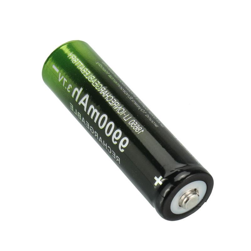 2/4PCS Batteries 3.7v Li-Ion Rechargeable Battery Charger for Flashlight