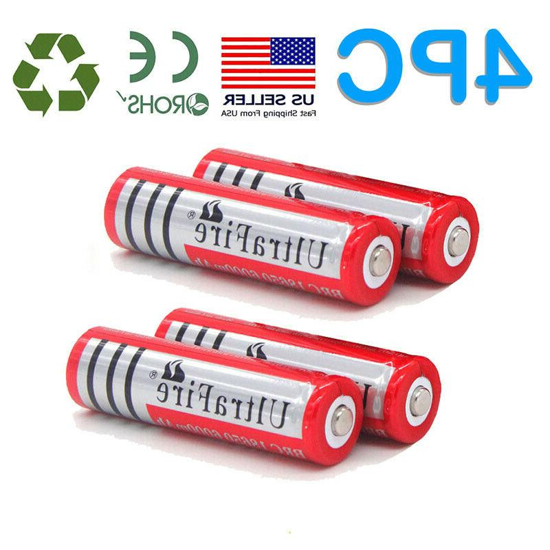 10X UltraFire Powered Battery 3.7V Li-ion Rechargeable Batteries