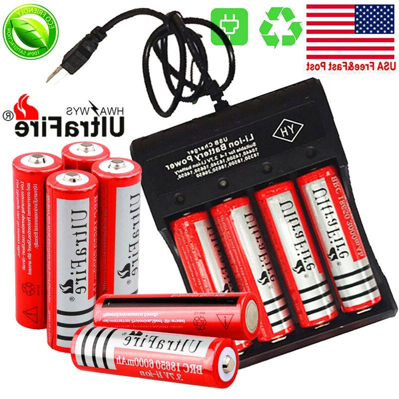 10X UltraFire Battery Batteries Chargers