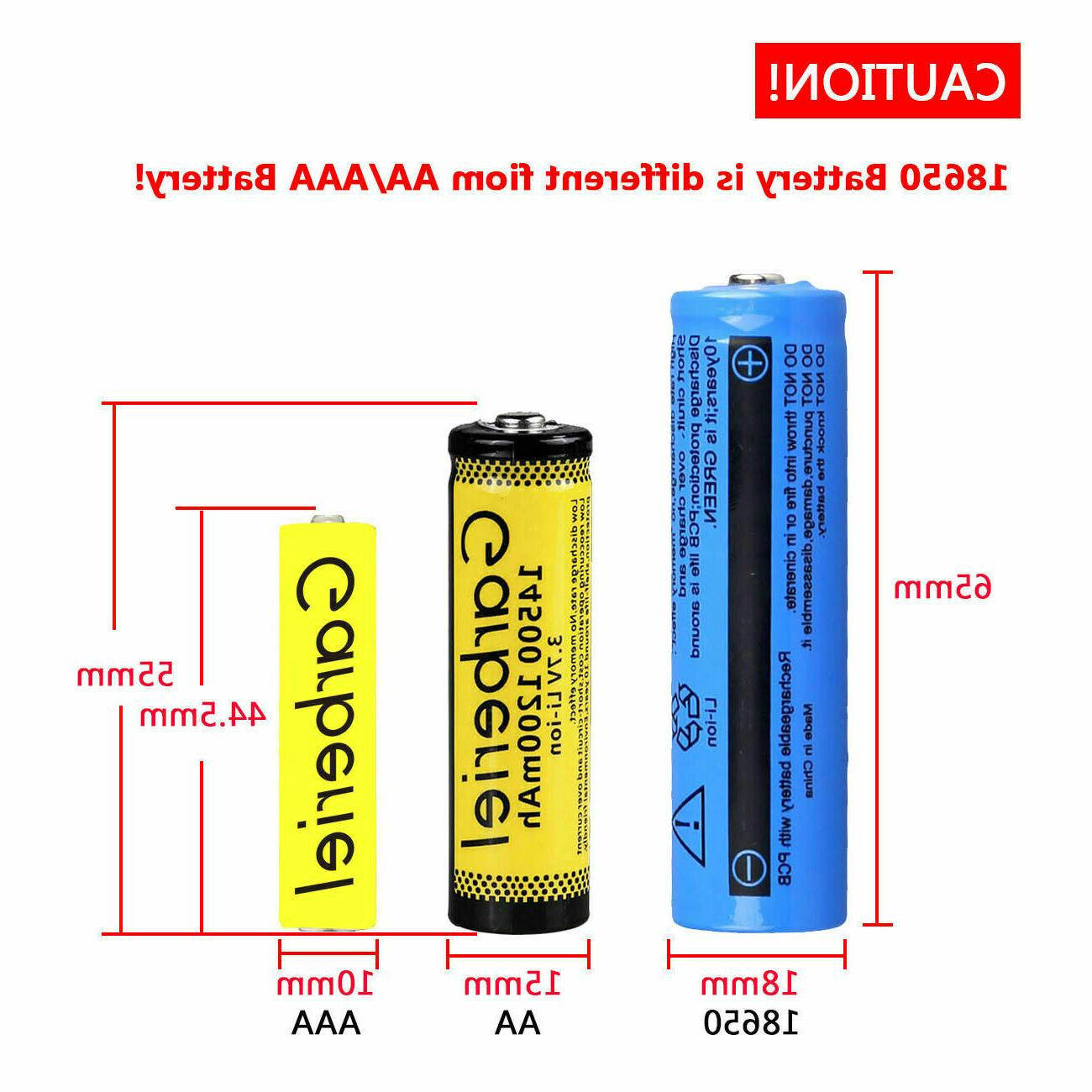 18650 Battery Li-ion Rechargeable For Flashlight