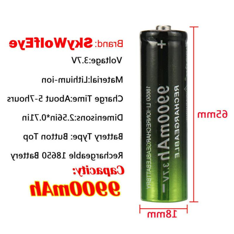 2/4PCS Batteries 3.7v Rechargeable Battery