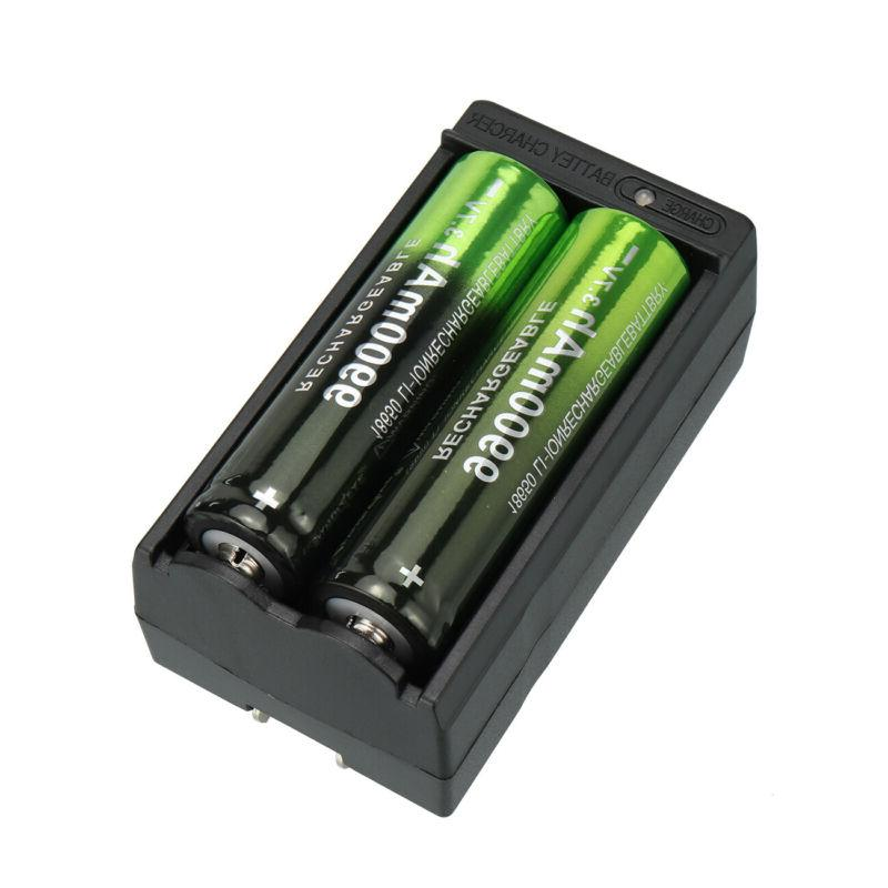 2/4PCS Batteries Rechargeable Battery + Charger for