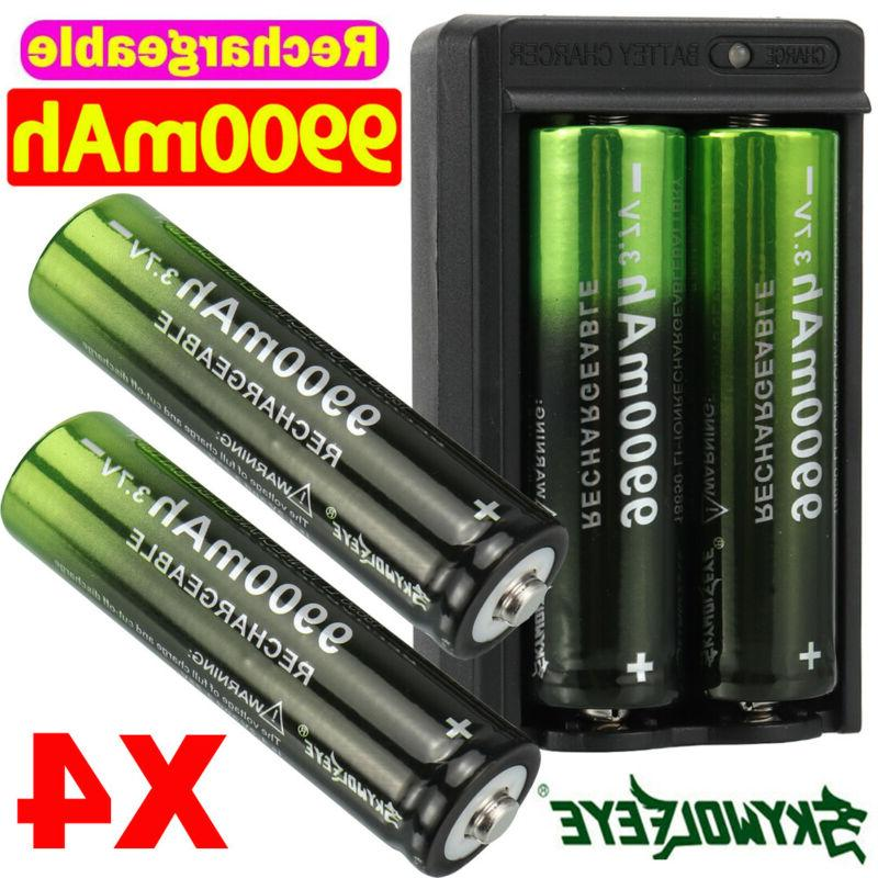 2 4pcs batteries 3 7v li ion