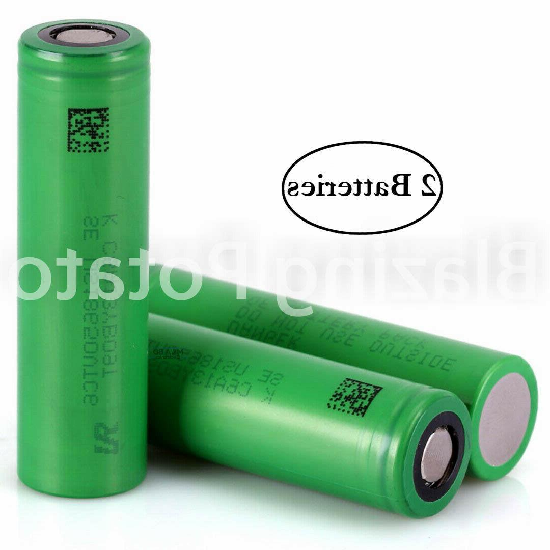 2 Sony 18650 Rechargeable Batteries 3000mAh FREE CASE