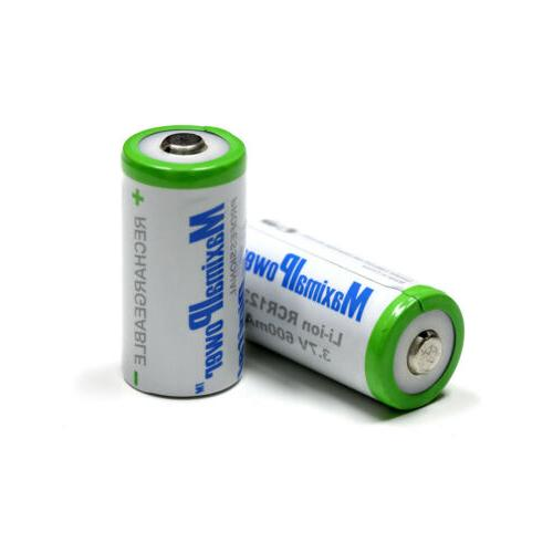 2-Pack Battery Rechargeable CR123A 700mAh