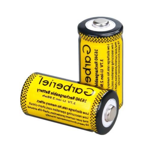 4PCS CR123A Batteries 16340 Li-ion