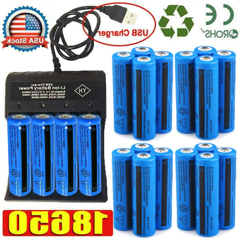 20X UltraFire 18650 Batteries Rechargeable Battery Chargers