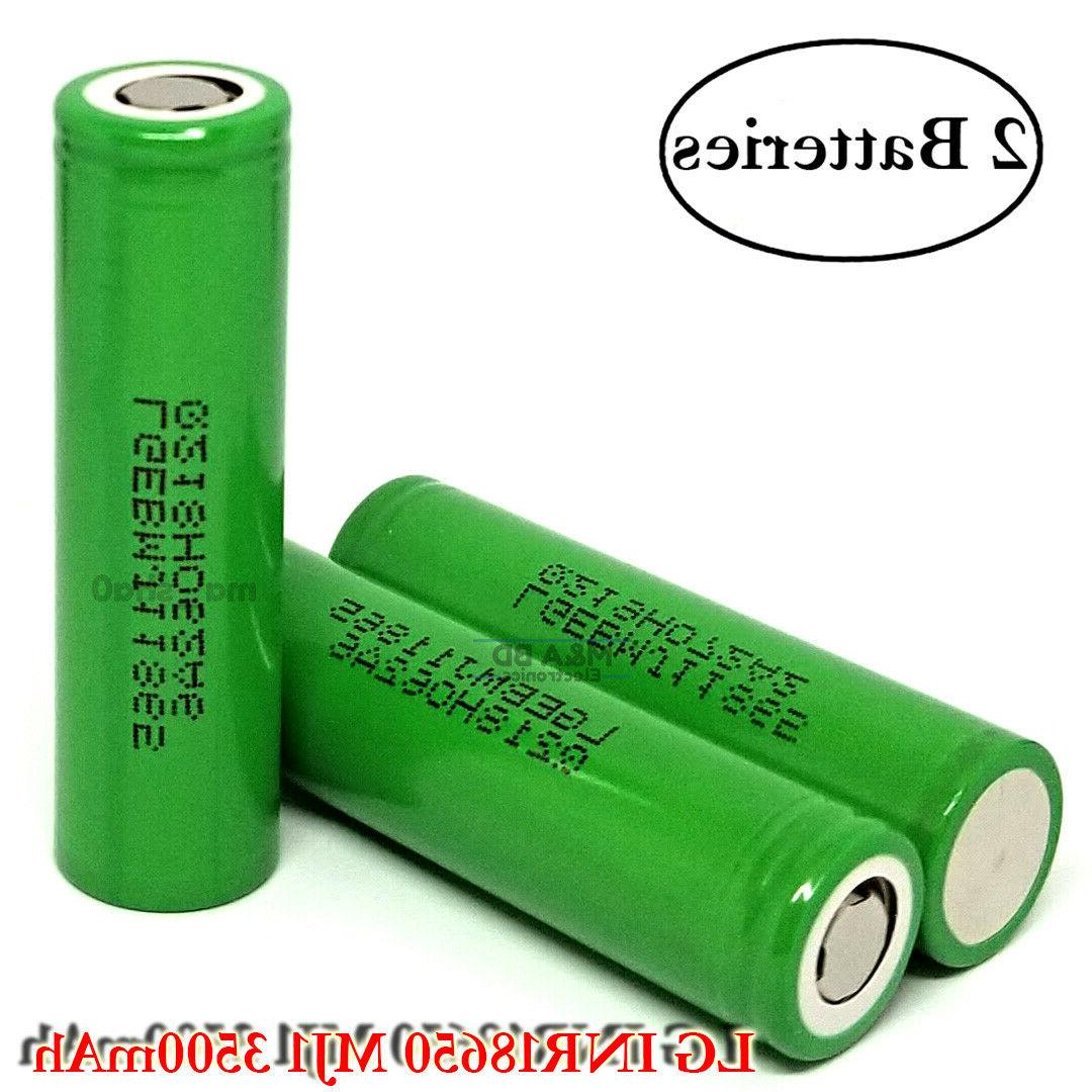 2x inr 18650 mj1 3500mah 10a rechargeable