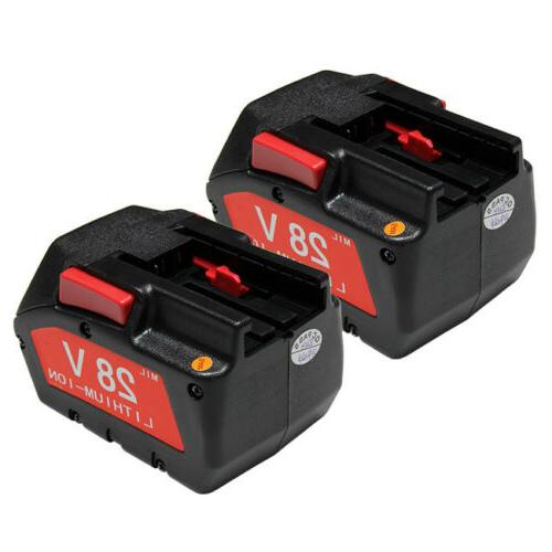 2x replacement power tool battery for milwaukee