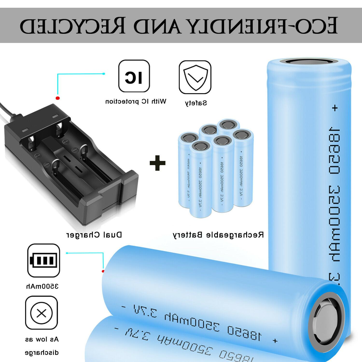 3500mah 18650 rechargeable 3 7v high drain