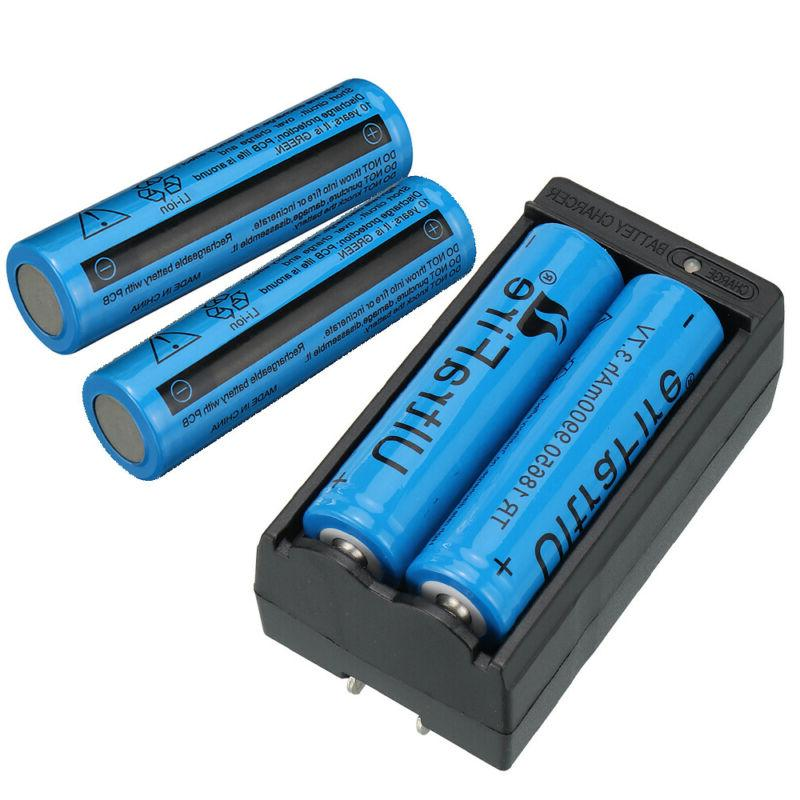 4PC UltraFire Battery Rechargeable 3.7v Batteries