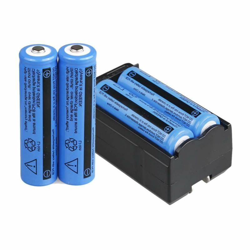 4PC 18650 Battery Rechargeable Li-ion Batteries Charger