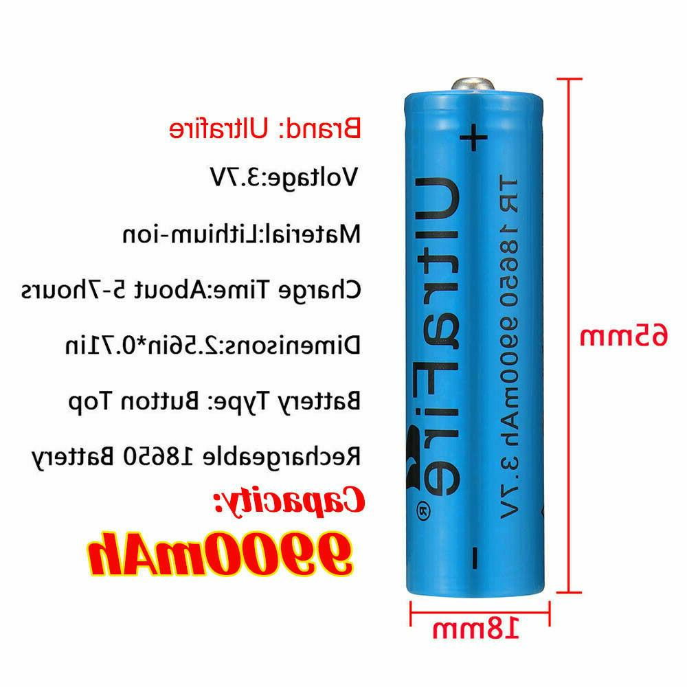 4X Rechargeable 18650Batteries USB UltraFire