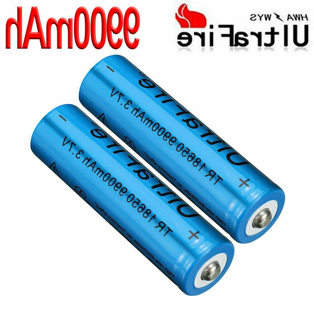 4X 3.7V Rechargeable 18650Batteries + 1X USB Charger