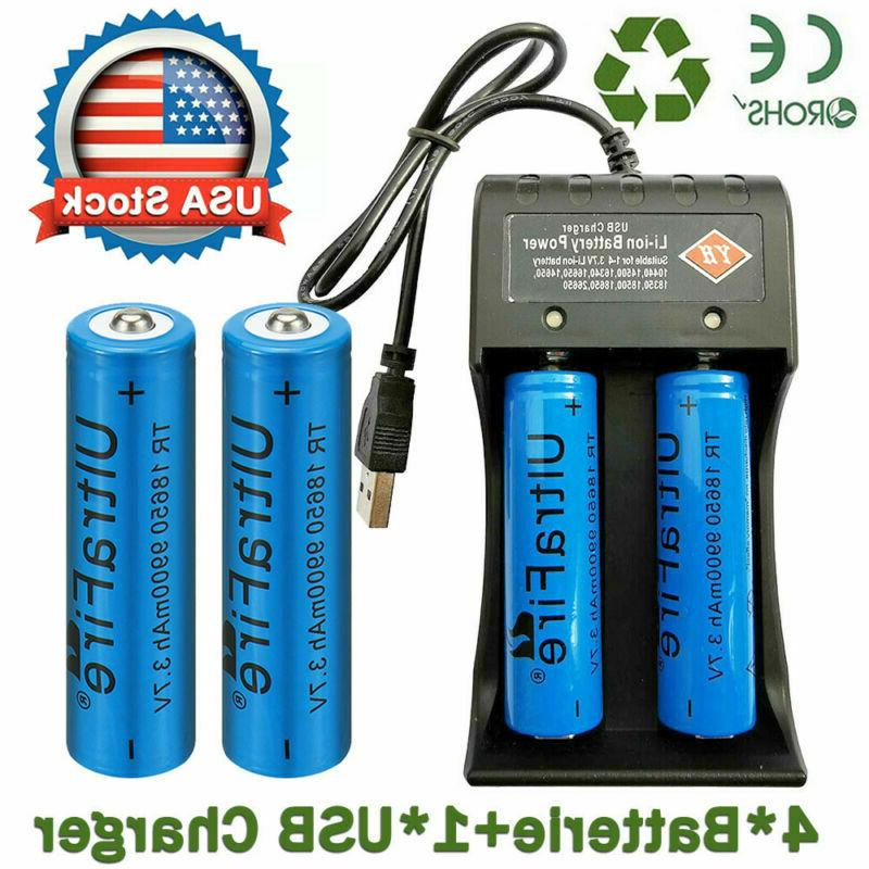 4x 3 7v li ion lithium rechargeable