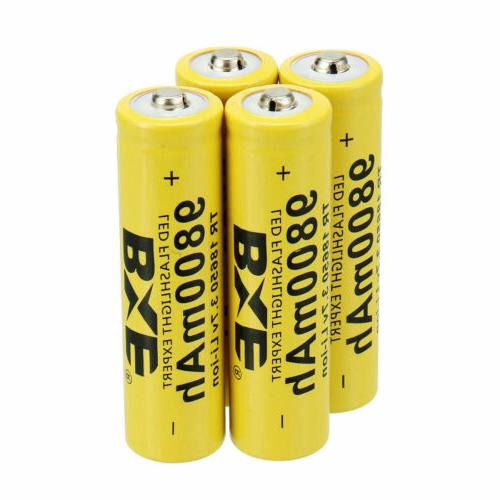 8 18650 Battery Rechargeable 3.7V For Headlamp