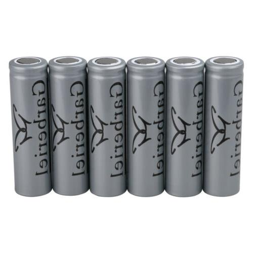 8PC Garberiel Flat Top Battery 3.7 Batteries Flashlight