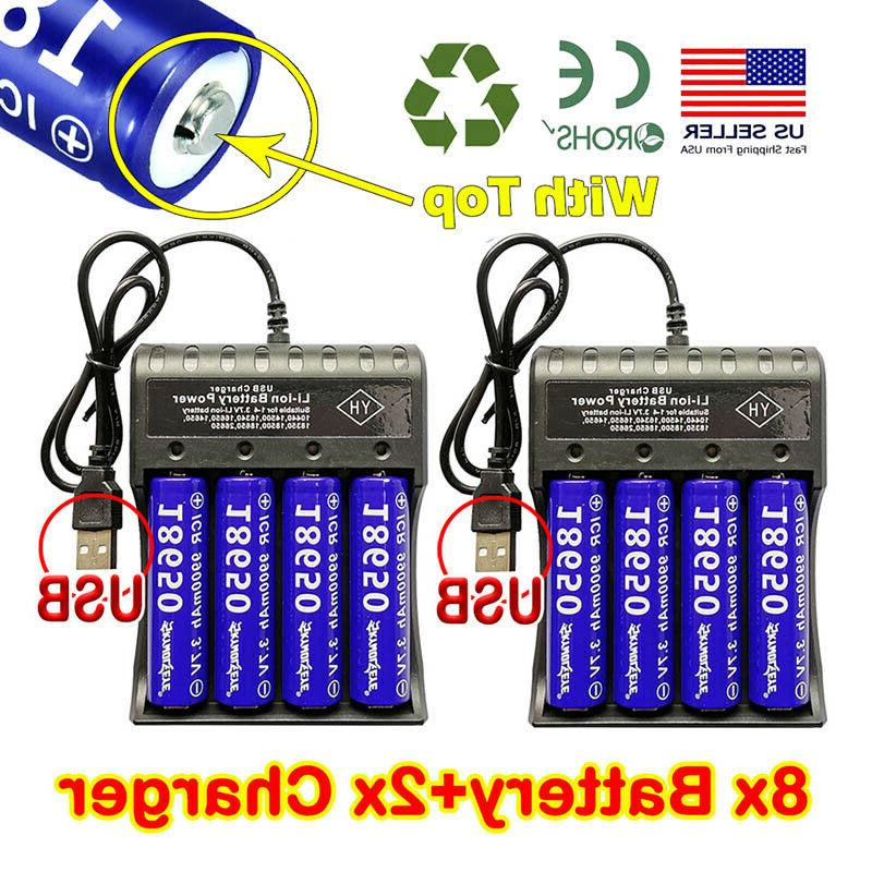 8PCS Battery Li-ion Charger For