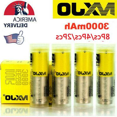 8pcs 2pcs 3000mah high drain flat top