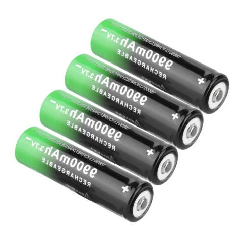 Rechargeable Battery 3.7V Li-ion with Charger for