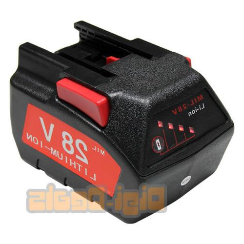 replacement power tool battery milwaukee 28v m28