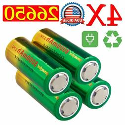 Power Rechargeable 26650 Battery 3.7V Li-ion Battery For Fla