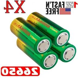Power Rechargeable 26650 Battery 3.7V Li-ion Batteries For F
