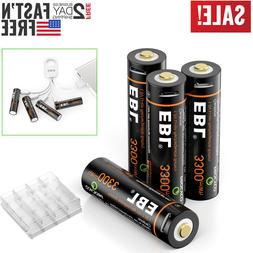EBL Rechargeable AA Lithium Batteries 1.5V 3300mWh LI-ion +
