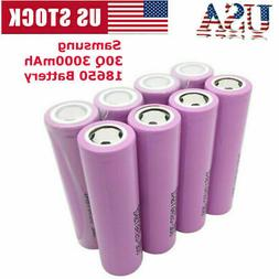 For Samsung INR18650 3000mAh 3.7V Li-Ion Button Top Recharge